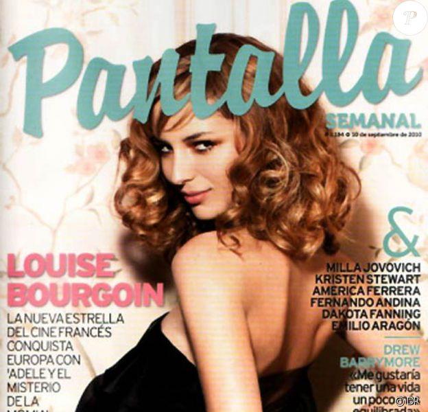 Louise Bourgoin en couverture de Pantalla Semanal.