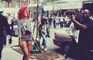 Rihanna : Regardez-la tourner son nouveau clip dans les rues de N.Y. !