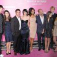 Ashton Kutcher, Demi Moore, Micah Alberti, Rumer Willis, Emma Heming, Bruce Willis, Tallulah Belle Willis et Scout LaRue Willis en août 2008
