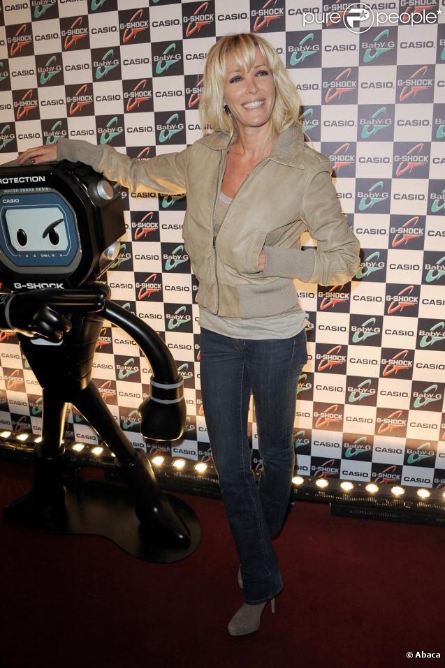 Ophélie Winter lors de la soirée G-Shock à Paris le 12 octobre 2010