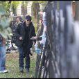 Brad Pitt visite le tournage de sa compagne Angelina Jolie à Budapest le 13 octobre 2010