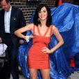 """""""La chanteuse Katy Perry, connue pour son côté acidulé, a choisi la bonne combinaison : la robe Hervé Léger version orange ! Frais et parfait ! """""""