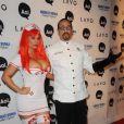 Ice-T et son épouse Coco lors de la soirée Halloween Party, organisée par Heidi Klum, le 31 octobre 2010