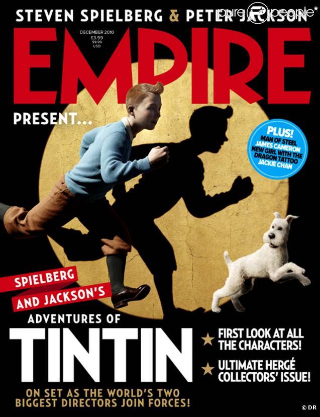 Tintin en couverture d' Empire , novembre 2010