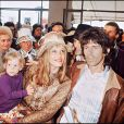 Anita Pallemberg, Keith Richards et leur fils Marlon en 1971
