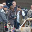 Angelina Jolie sur le tournage de sa première réalisation en Hongrie à Budapest le 14 novembre 2010