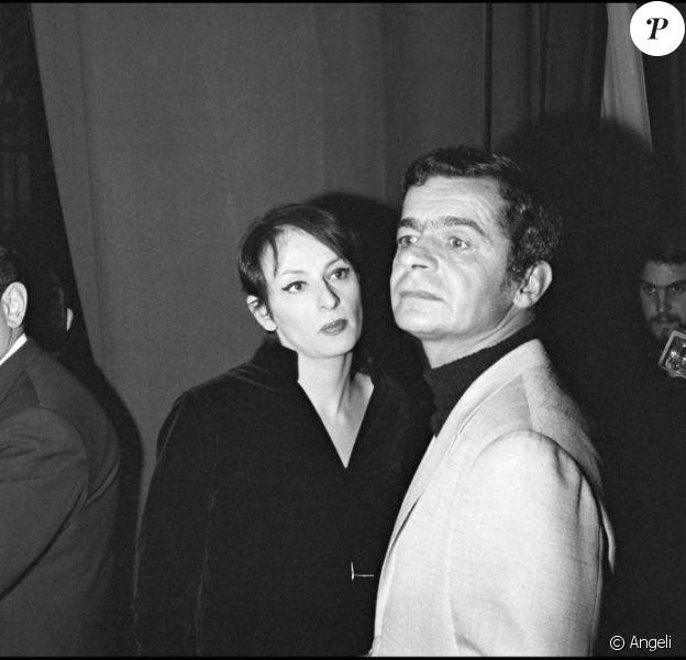 Serge Reggiani et Barbara à Bobino, à Paris, 1966