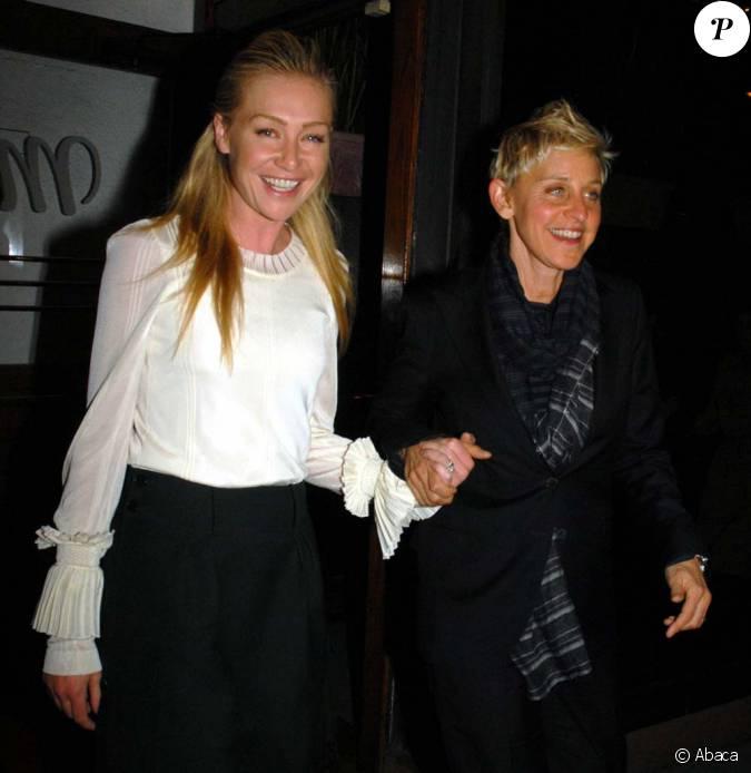 Ellen degeneres et portia de rossi d nent au restaurant for Ellen degeneres and portia de rossi story