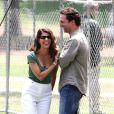 Matthew McConaughey et Marisa Tomei sur le tournage de  La Défense Lincoln , en juillet 2010.
