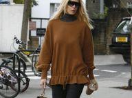 Claudia Schiffer : Après le noir, le vert, voici le total look camel, bluffant !