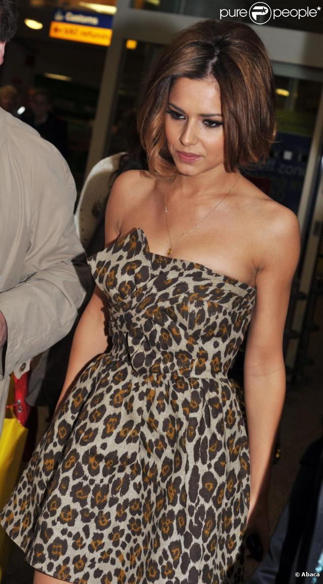 La chanteuse britannique aime se montrer et cette robe bustier à imprimé léopard met ses formes en valeur.
