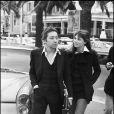 Serge Gainsbourg et Jane Birkin lorsqu'ils étaient en couple. Dans les années 1970