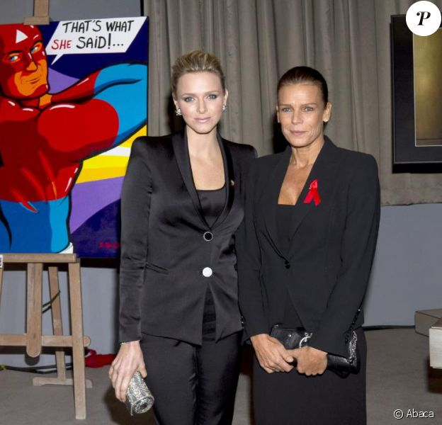 Charlene Wittstock et Stéphanie de Monaco au Sea Club Meridien à Monaco le 2 décembre 2010
