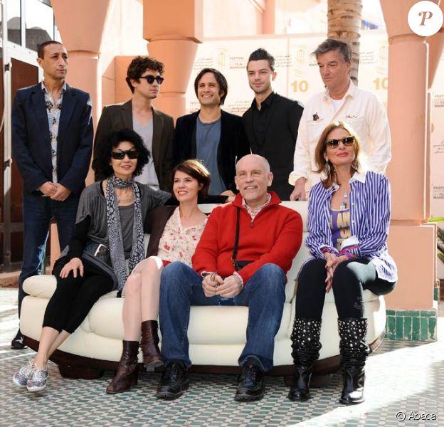 Le jury du Xème Festival International du Film de Marrakech le 4 décembre 2010
