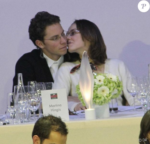 Martina Hingis et son futur mari Thibault Hutin épousé samedi 11/12, à Paris. Le couple était aux Gucci Masters le 4 décembre 2011 à Villepinte.