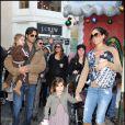 David Charvet et Brooke Burke et les enfants