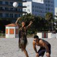 Alesha  Dixon tourne son clip  Every little part of me  à Miami, le 15 décembre 2010.