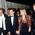 Jacques Martin, Cécilia Attias, Nicolas Sarkozy et Marie-Dominique Culioli, à Paris, le 24 novembre 1984