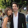 David Schwimmer et Zoe Buckman posent pour la première de Madagascar 2 à Los Angeles en octobre 2008
