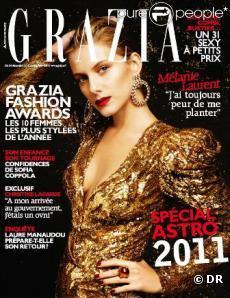 Mélanie Laurent en couverture de Grazia