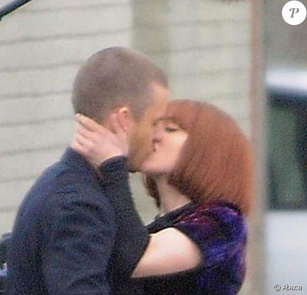 Justin Timberlake et Amanda Seyfried sur le tournage de Now, en décembre 2010.
