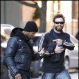 Hugh Jackman et sa fille Ava se rendent à un  club de gym à New York, le 3 janvier 2011.