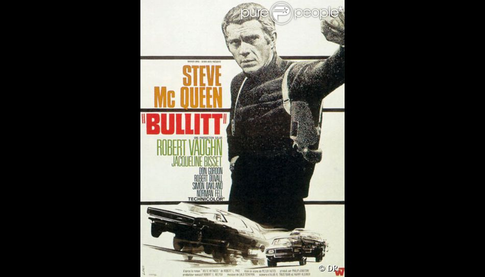 l 39 affiche du film bullitt de peter yates. Black Bedroom Furniture Sets. Home Design Ideas