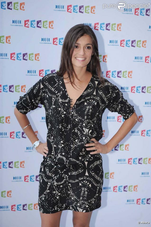 Tania Young, nouvelle présentatrice du  Faut pas rêver , sur France 3. Ici à Paris, le 3 septembre 2010