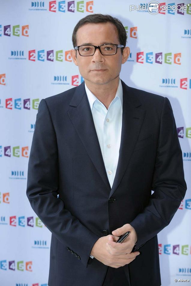 Jean-Luc Delarue, conférence de presse de rentrée de France Télévisions, Paris, le 3 septembre 2010