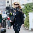 Claudia Schiffer à Londres, le 19 janvier 2011.