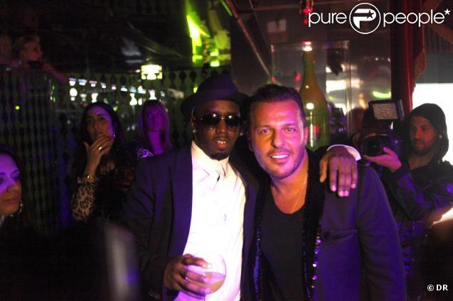 P. Diddy et Jean-Roch au VIP Room, pour la soirée promotionnelle de P. Diddy, le 22 janvier 2011
