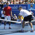 Dimanche 16 janvier 2011, Novak Djokovic participait au dimanche de mobilisation des stars du tennis pour les victimes des inondations en Australie.