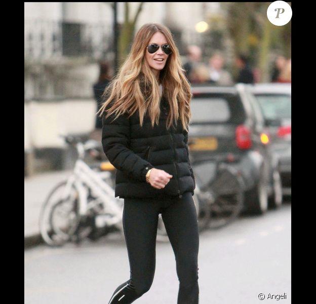 Elle Macpherson à Londres, le 26 janvier 2011.