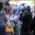Willow Smith sur le tournage de son nouveau clip 21st Century Girl, à Los Angeles le 23 janvier 2011