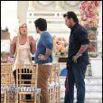 Tori Spelling et son mari Dean McDermott animent un mariage à Los Angeles, lundi 24 janvier, dans le cadre de leur reality-show,  Tori and Dean : Weddings .