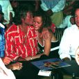 Johnny Hallyday et Laeticia au Papagayo, en 1995
