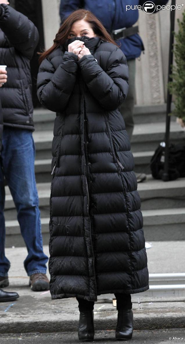 Rose McGowan sur le tournage de New York Unité Spéciale à New York, le 14 février 2011.