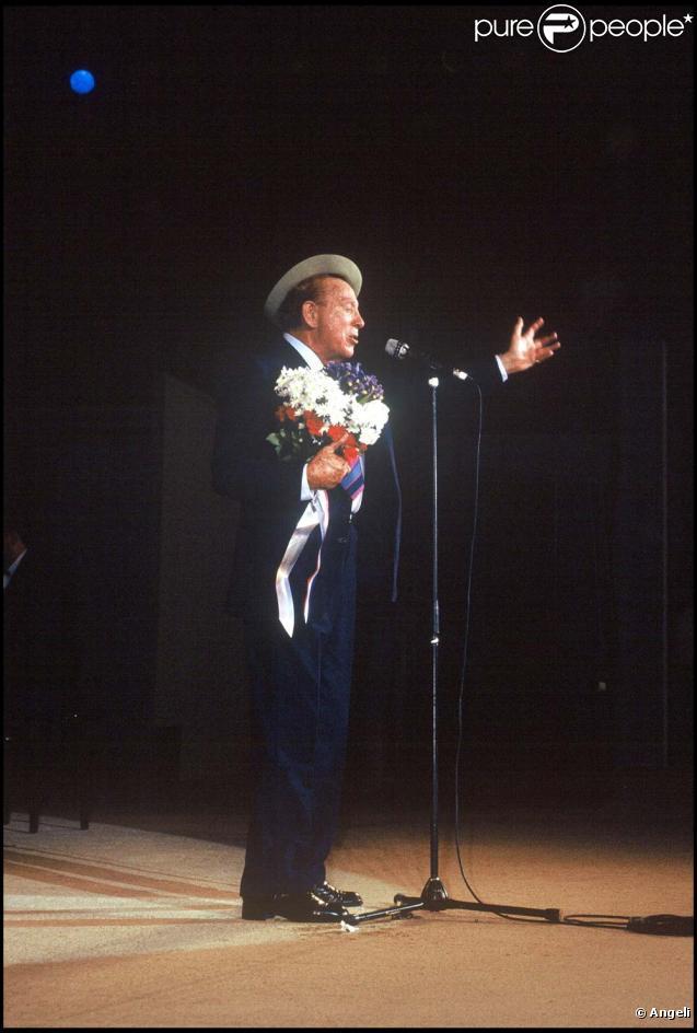 Charles Trenet, cloture du festival de Ramatuelle, le 15 août 1988