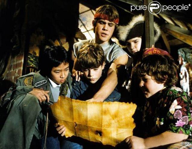Des images de  The Goonies , sorti en 1985.