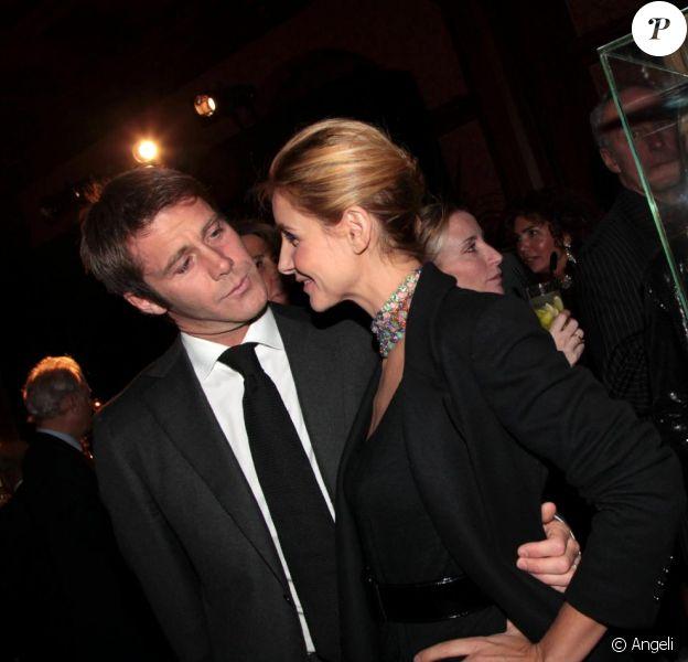 Clotilde Courau et le prince Emmanuel de Savoie, le jeudi 17 février 2011, en Suisse.