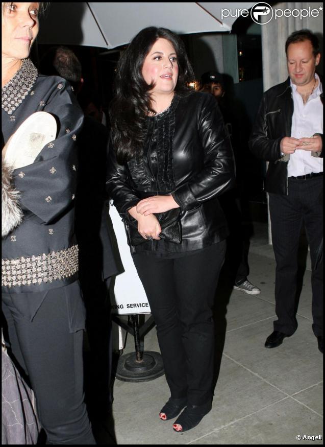 Monica Lewinsky à la sortie de Mr Chow à Los Angeles le 25 février 2011