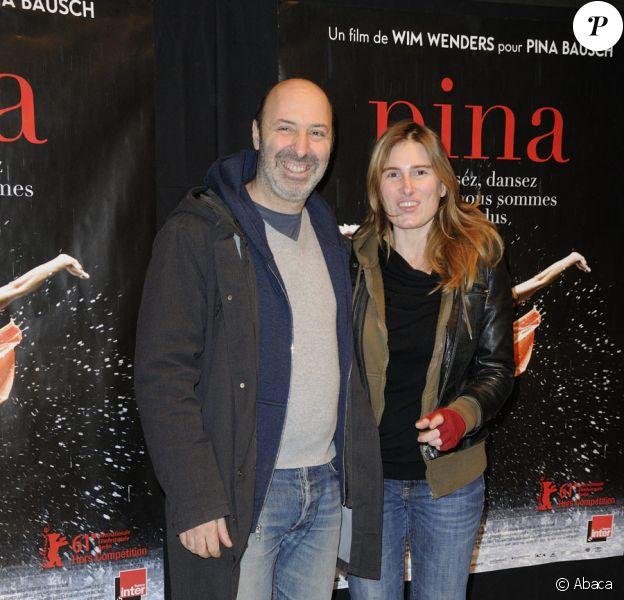 Cédric Klapisch et sa compagne Lola Doillon lors de l'avant-première du film Pina au théâtre de la Ville à Paris le 2 mars 2011