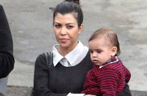 Kourtney Kardashian refuse de décrocher un sourire... même pour son fils !