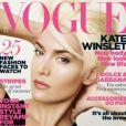 Kate Winslet en blond platine sur la couverture du magazine Vogue UK