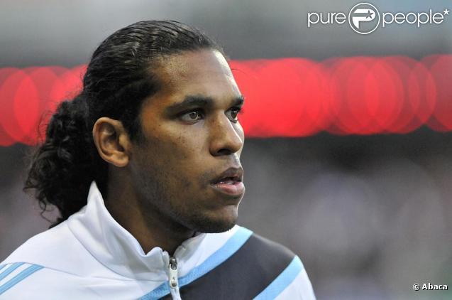L'attaquant brésilien de l'OM Brandao pendant des matchs au Vélodrome de Marseille