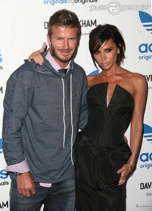 David et Victoria Beckham posent lors d'une soirée à Los Angeles en septembre 2009