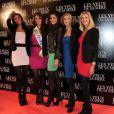 Première du film Les Yeux de sa mère le 22 mars 2011 à Paris. Les Miss Chloé Mortaud, Laury Thilleman, Malika Ménard, Alexandra Rosenfeld et Sylvie Tellier ont fait sensation