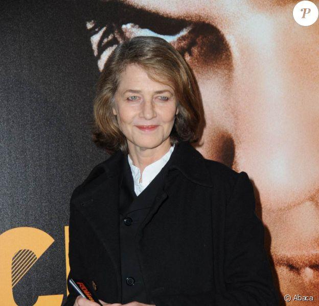 Charlotte Rampling à l'occasion du vernissage de l'exposition Stanley Kubrick, qui se tient à la Cinémathèque Française (du 23 mars au 31 juillet 2011), à Paris, le 22 mars 2011.