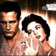 Elizabeth Taylor et Paul Newman sur le tournage de La Chatte sur un Toit Brûlant en 1958