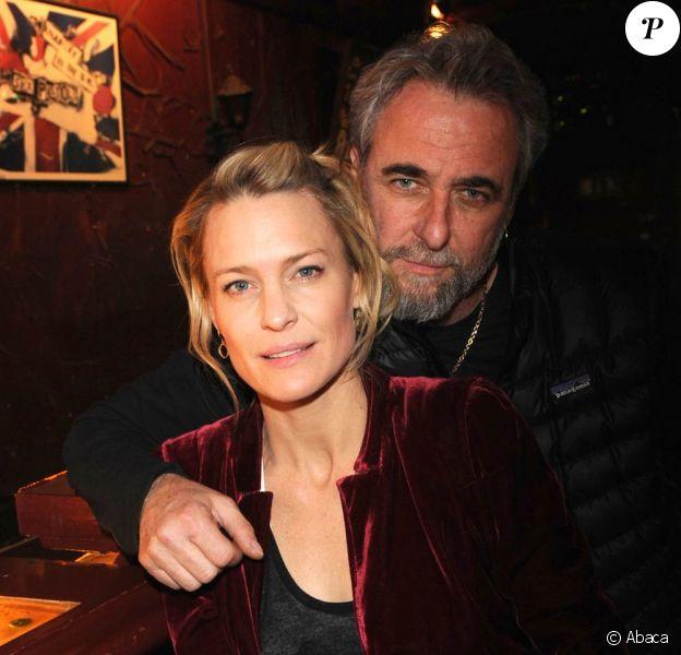 Robin Wright et le réalisateur Ari Folman posent à Berlin. 24 mars 2011